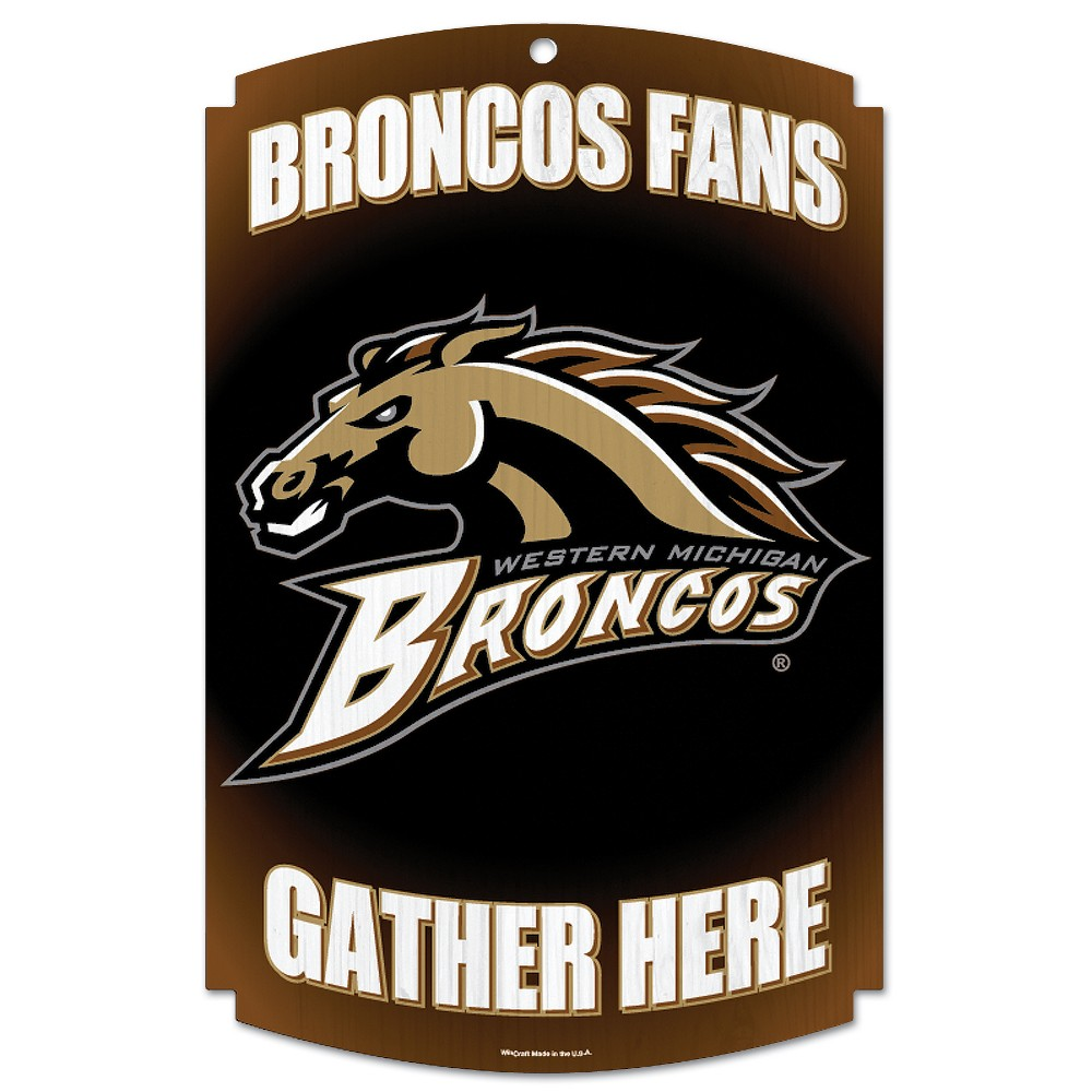 NCAA Western Michigan Broncos Fence Wall Sign