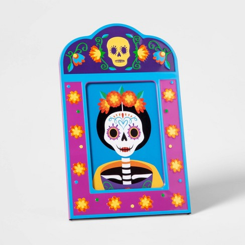 Da de Muertos Photo Frame Blue - image 1 of 1
