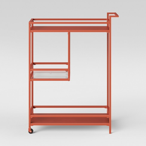 Glasgow Metal Bar Cart Orange Shade - Project 62™ - image 1 of 3