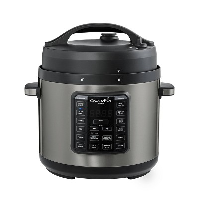 Crock Pot 6qt Express Crock Pressure Cooker - Dark Stainless