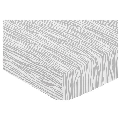 Sweet Jojo Designs Fitted Crib Sheet - Stag - Wood Grain Print
