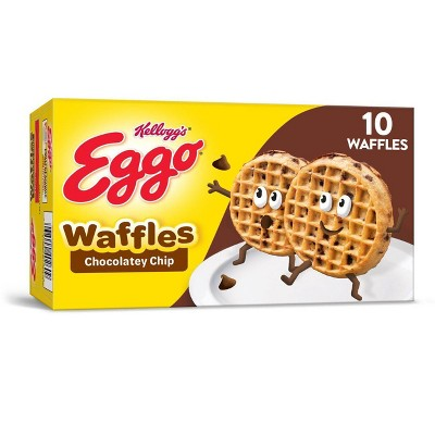 Kellogg's Eggo Chocolatey Chip Frozen Waffles - 12.3oz/10ct