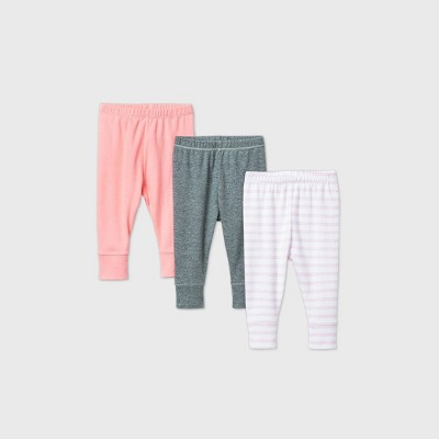 Baby Girls' 3pk Flamingo Parade Pull-On Pants - Cloud Island™ Pink 6-9M