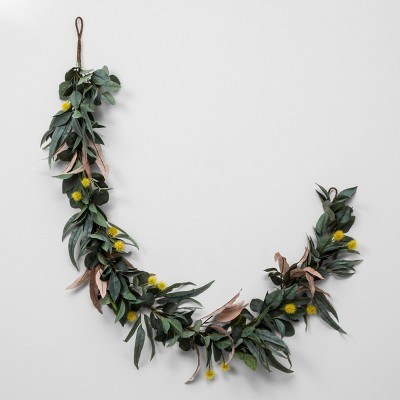 Faux Olive Leaf & Crespedia Garland - Hearth & Hand™ with Magnolia