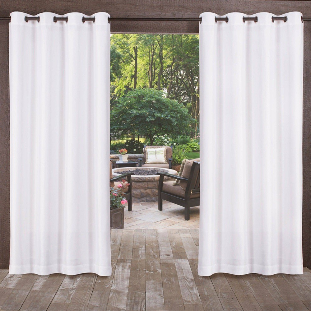 120 34 X54 34 Biscayne Grommet Top Light Filtering Window Curtain Panels White Exclusive Home