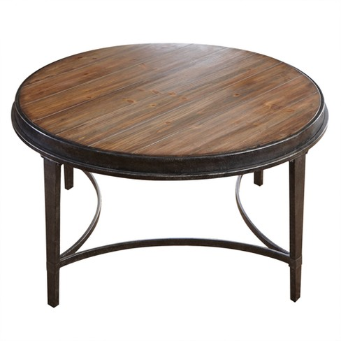 Gianna Round Cocktail Table Antique Tobacco - Steve Silver - image 1 of 1