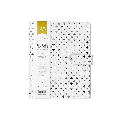 image relating to Day Designer Daily Planner named 2019 2020 Instructional Refillable Planner 9x 8 WhiteBlack Working day