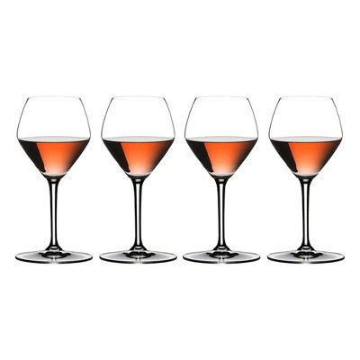 Riedel 11.36 Ounce Extreme Rose and Champagne Clear Crystal Wine Glass Set for Rose Wines, Champagnes, and Sparkling Wines, Set of 4