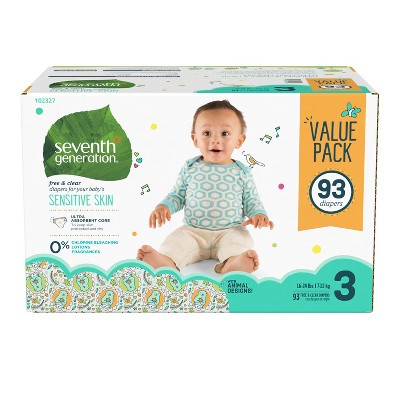 Seventh Generation™ Free & Clear Diapers Size 3 - 93ct