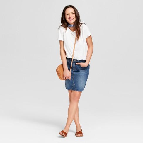 Women s Denim Skirt - Universal Thread™ Dark Wash   Target 15fd8328c0