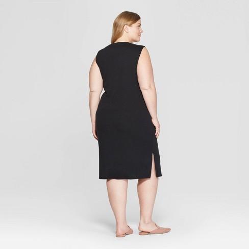 af6faa6735a Women s Plus Size Sleeveless Scoop Neck Knit Midi Dress - Prologue™ Black  3X   Target