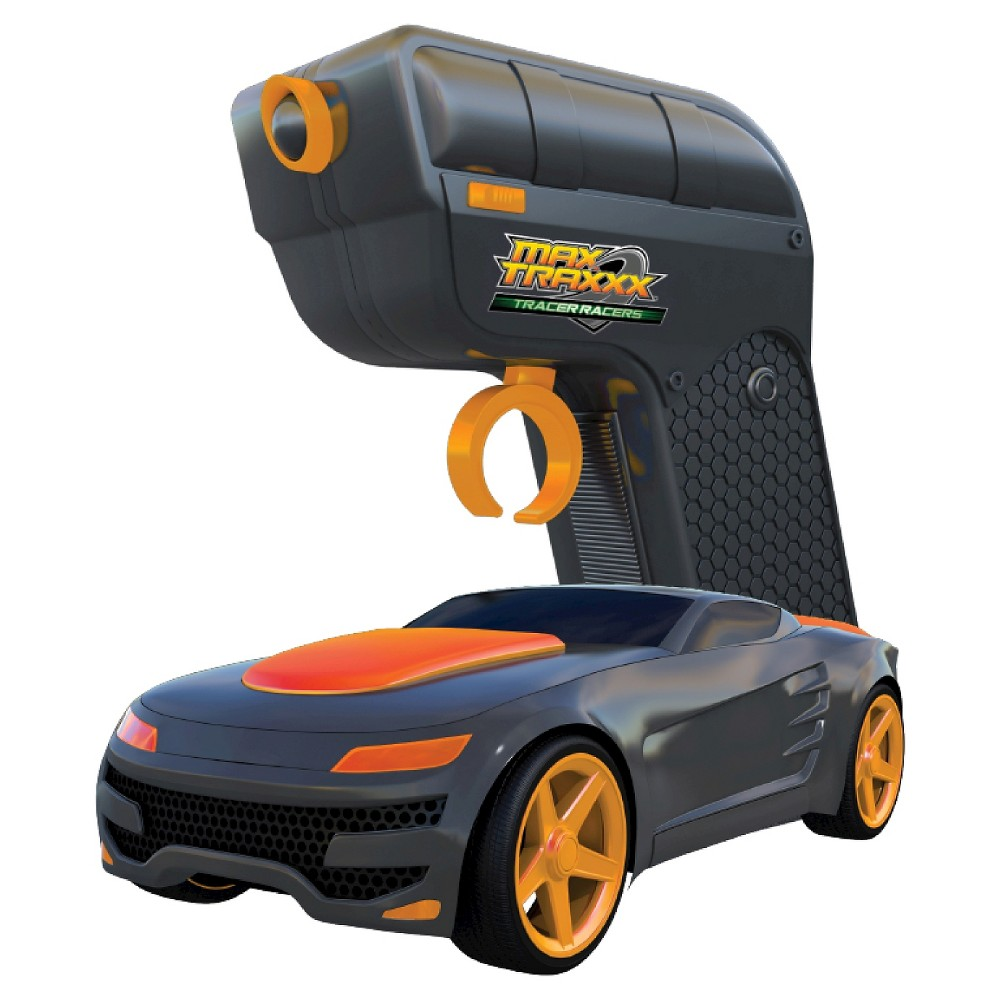 Max Traxxx Tracer Racers RC Car and Controller Orange