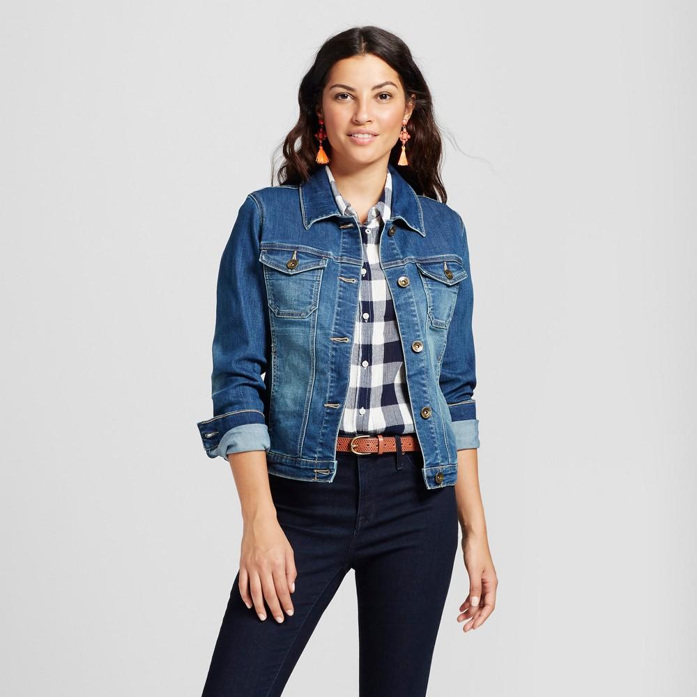 Women's Modern Fit Denim Jacket - Crafted by Lee Medium Wash L