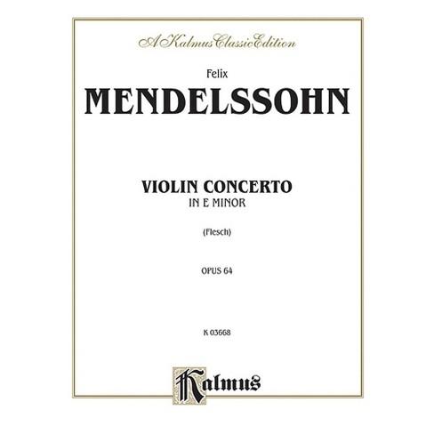 Alfred Violin Concerto Op. 64 for Violin By Felix Mendelssohn / arr. Carl Flesch Book - image 1 of 1