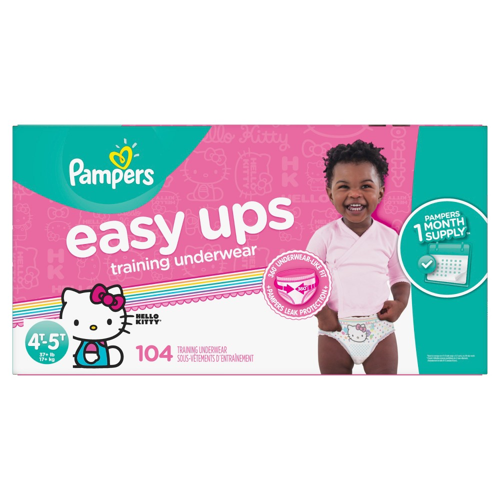 Pampers Easy Ups Girls Training Pants Omg Pack 4T-5T (104ct)