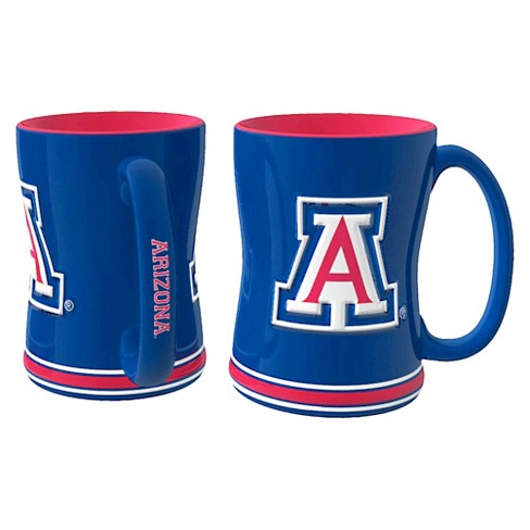 Arizona Wildcats Boelter Brands 2 Pack Sculpted Relief Style Coffee Mug - Blue (15 oz) - image 1 of 1