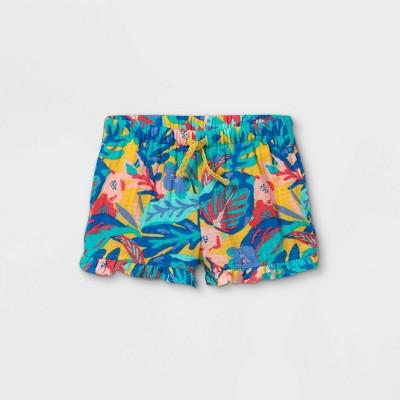 NWT Girls Teal Cat /& Jack Drawstring Shorts 2T