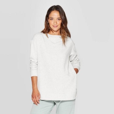Women's Beautifully Soft Fleece Lounge Tunic Sweatshirt - Stars Above™ - image 1 of 2