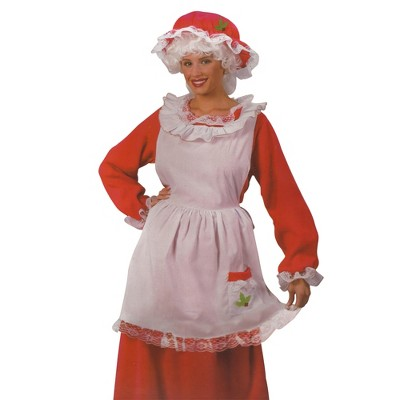 Fun World Red and White Plush Velour Santa Claus Unisex Adult Christmas Costume Suit - One Size