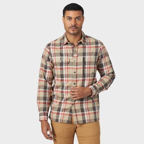 Wrangler Men's Button-Down Shirt - Burnt Ochre - image 1 of 4