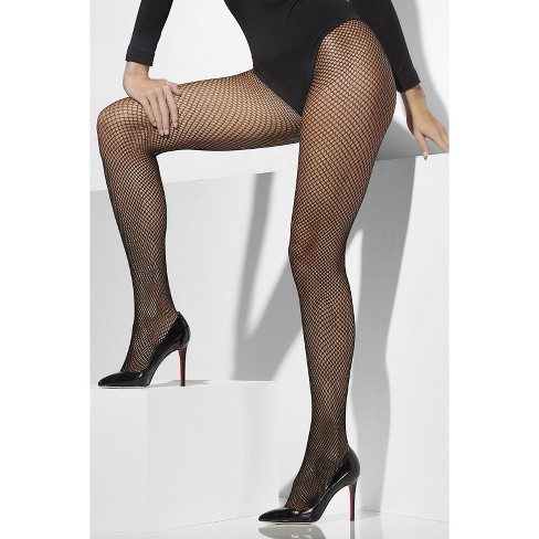 Adult Smiffy's Fishnets Costume Tights Black XL - image 1 of 1