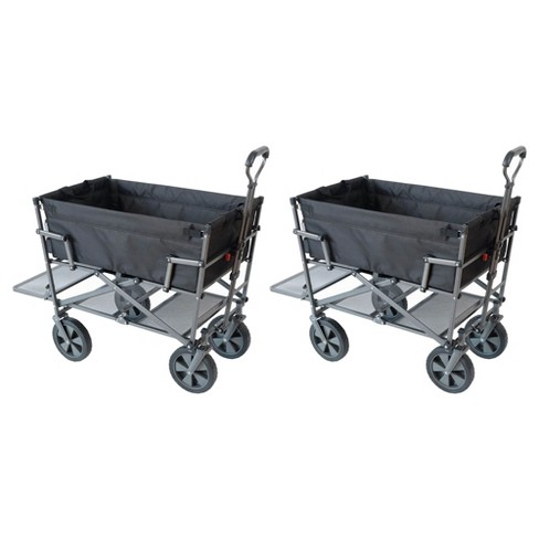 Mac Sports Heavy Duty Steel Double Decker Collapsible Yard Cart ... d58891522