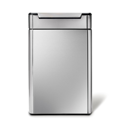 simplehuman 48 ltr Touch Bar Dual Compartment Recycling Step Trash Can Brushed Stainless Steel - image 1 of 4
