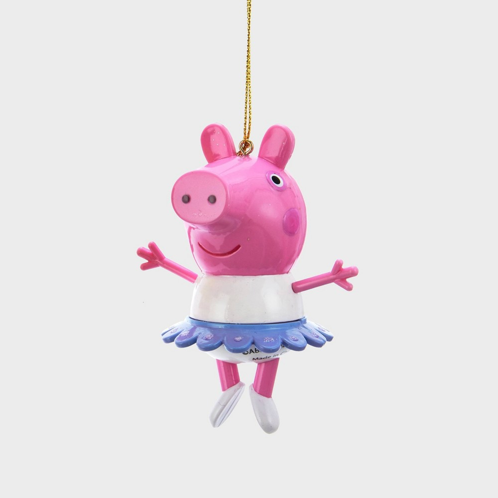 """Image of """"3"""""""" Peppa Pig with Tutu Christmas Ornament, Pink"""""""