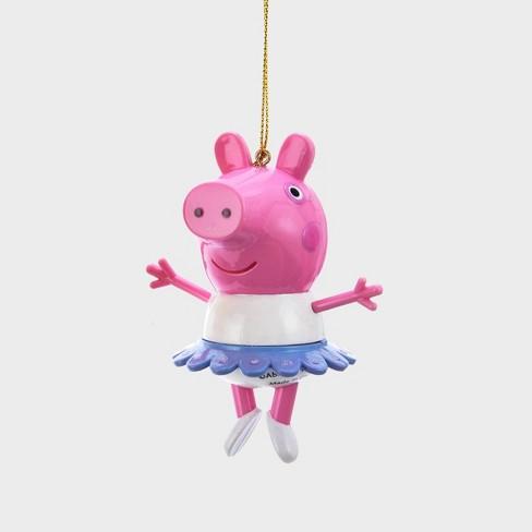 Christmas Pig.3 Peppa Pig With Tutu Christmas Ornament