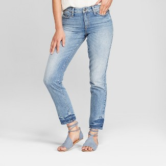 Womens High-Rise Straight Leg Jeans - Universal Thread™ Light Wash 8