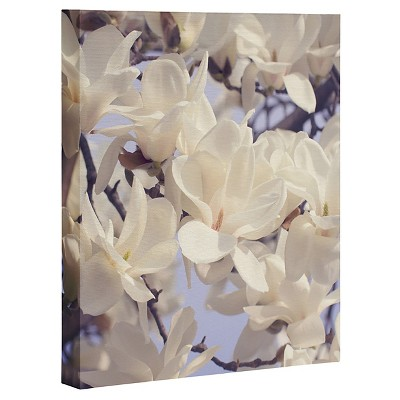 Catherine Mcdonald Asian Magnolias Art Canvas - Deny Designs®