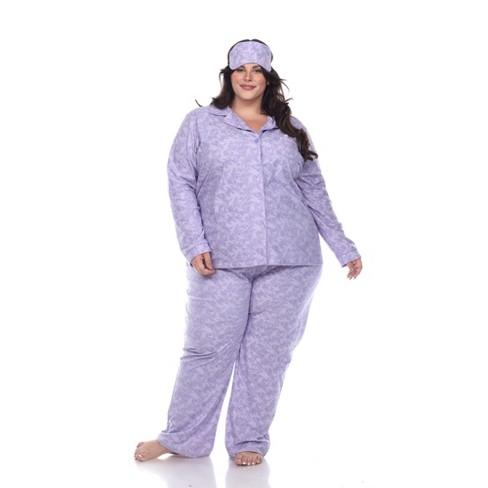 Plus Size Three-Piece Pajama Set - White Mark - image 1 of 4