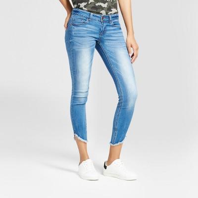 Womenu0027s Frayed Hem Crop Skinny Jeans - Dollhouse (Juniorsu0027)