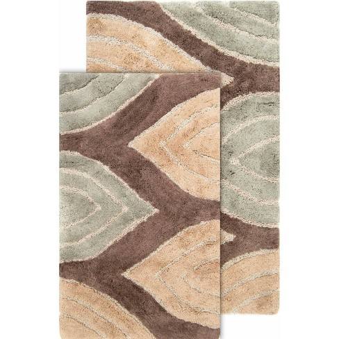 2pc Davenport Geometric Bath Rug Set