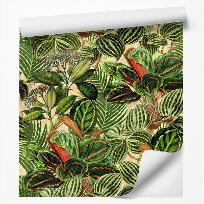Americanflat Peel & Stick Wallpaper Roll -Tropical Leaves by DecoWorks