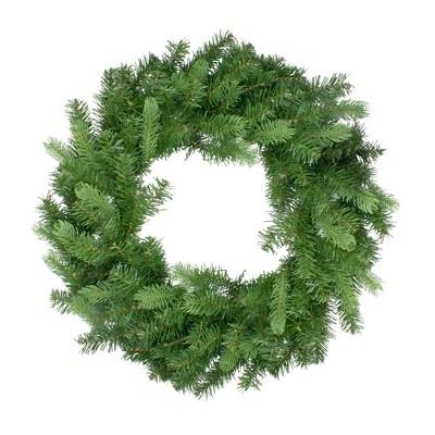 """Northlight 30"""" Unlit Noble Fir Artificial Christmas Wreath"""