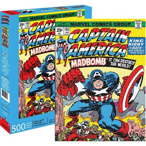 NMR Distribution Marvel Captain America #193 Comic Cover 500 Piece Jigsaw Puzzle - image 1 of 4