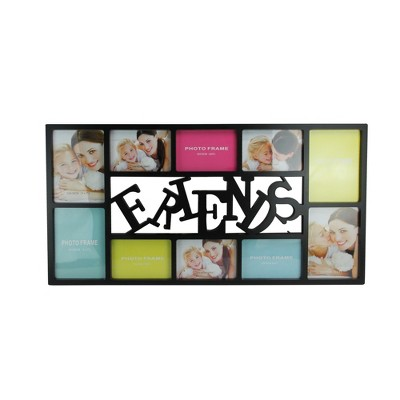 """Northlight 28.75"""" Black Dual-Sized """"Friends"""" Collage Photo Picture Frame Wall Decoration"""