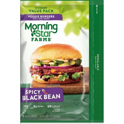 Morningstar Farms Spicy Black Bean Veggie Burgers - Frozen - 18.9oz/8ct