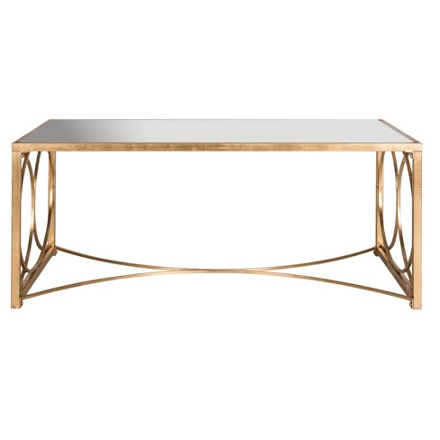 Melosa Coffee Table - Gold with Mirror - Safavieh® - image 1 of 2