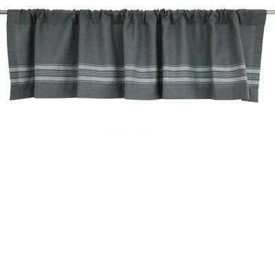 "15""x54"" Striped Window Valance Gray/Cream - Threshold™"