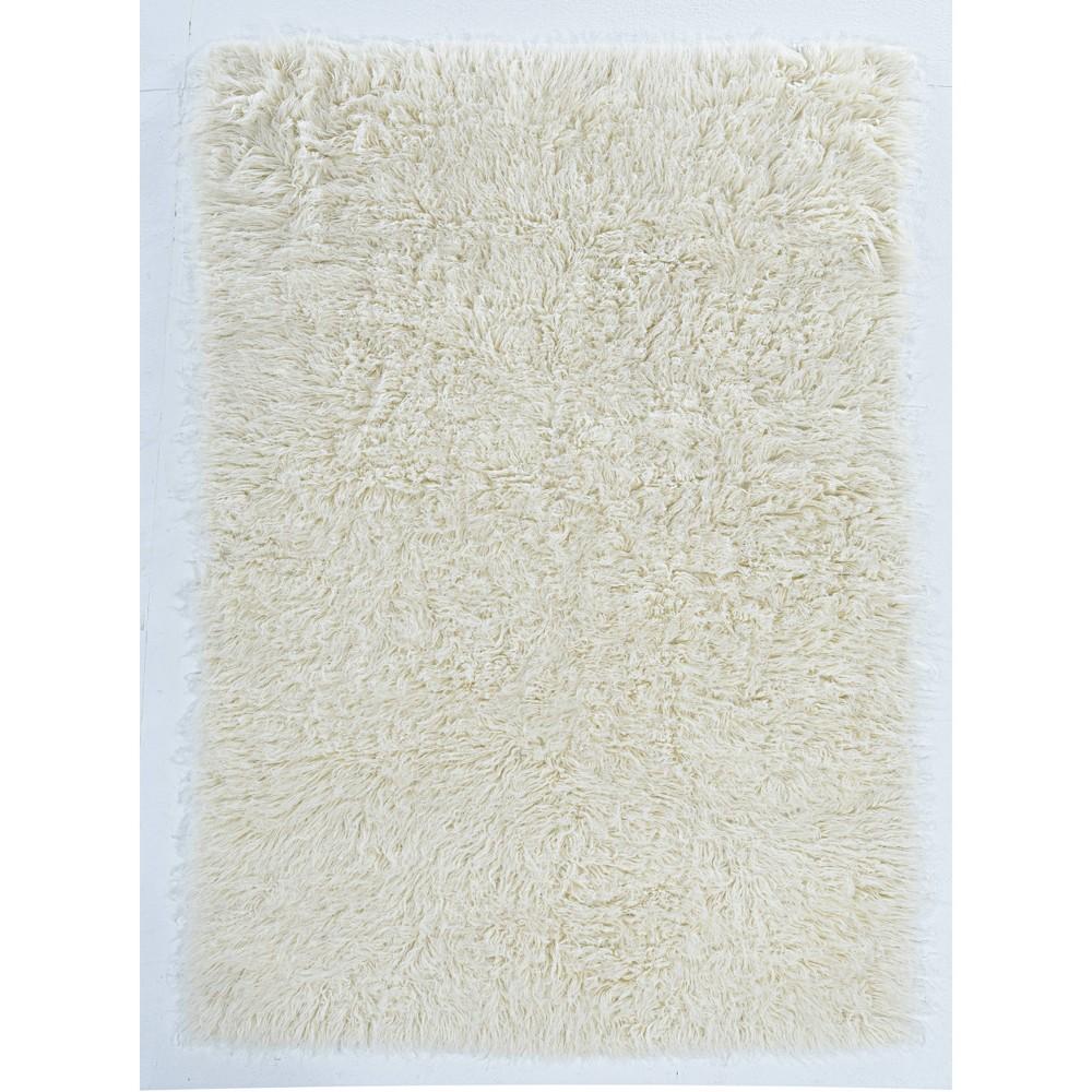 4 39 X6 39 100 New Zealand Wool Flokati Accent Rug Natural Linon