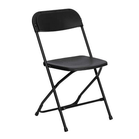 Riverstone Furniture Collection Plastic Folding Chair Black - image 1 of 5
