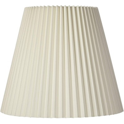 Brentwood Ivory Pleated Lamp Shade Traditional Unlined with Harp 10x17x14.75 - Spider
