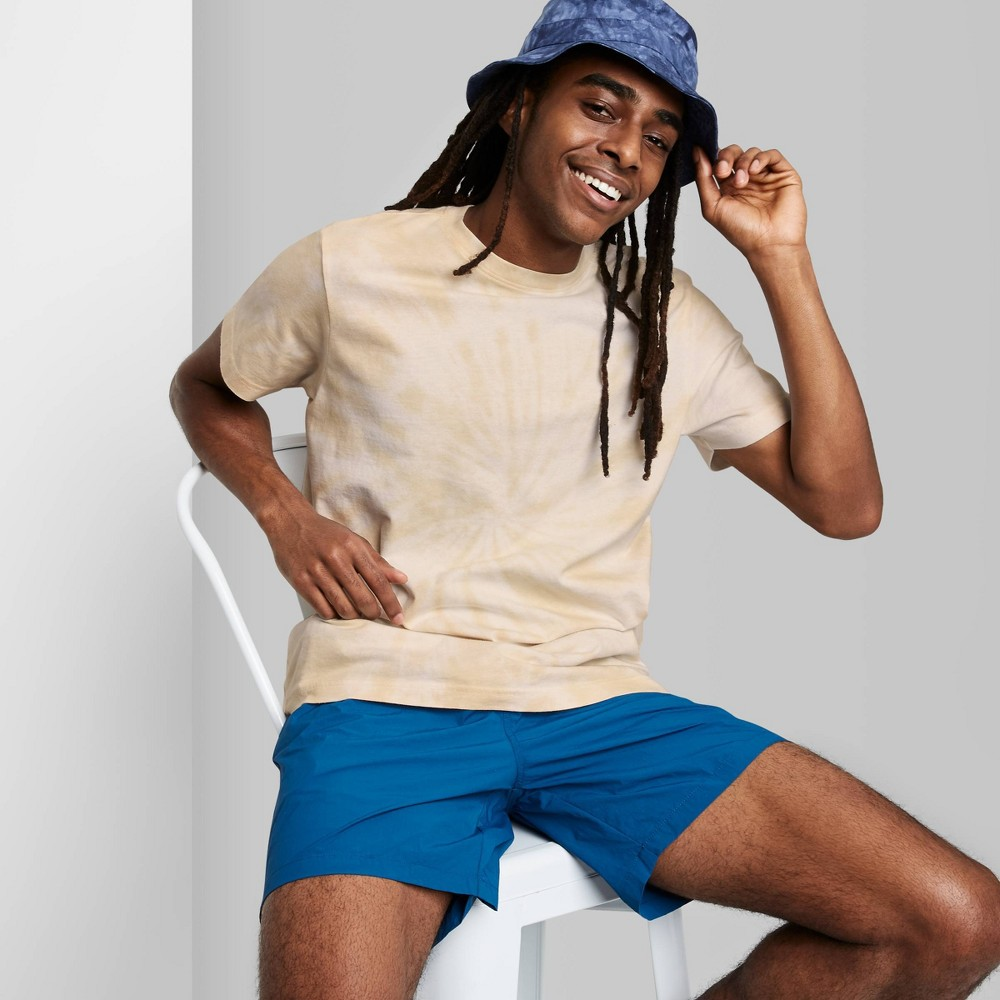 Men 39 S Tie Dye Regular Fit Short Sleeve Crewneck T Shirt Original Use 8482 Brown Xs