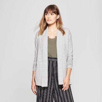 Women s Open Knit Cardigan – A New Day™ Gray Heather XL – Target ... e1fa65e47