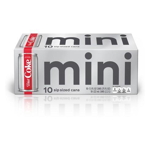 Diet Coke 10pk75 Fl Oz Mini Cans Target