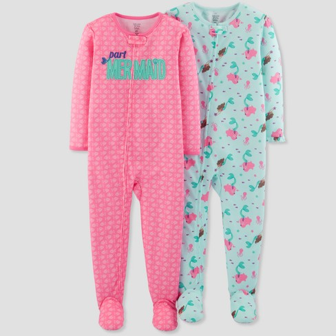 5275240b3d Toddler Girls  Mermaid Footed Sleeper - Just One You™ Made by Carter s® Pink