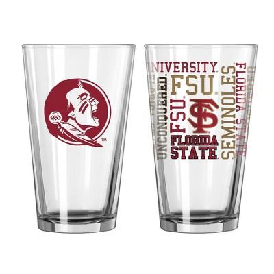 NCAA Florida State Seminoles Pint Glass Gift Set - 2pk