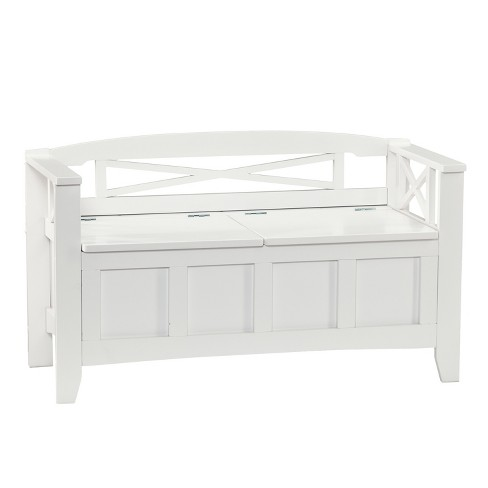 Hart Storage Bench Sandy White - Aiden Lane - image 1 of 5